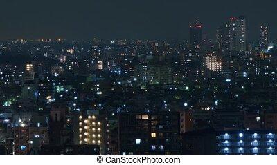 Night Tokyo - time-lapse