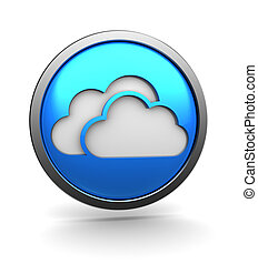 cloud storage - 3d illustration of cloud storage icon, over...