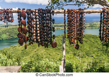 Necklaces of seeds in Nosy Be island, northern Madagascar