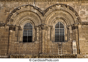Church of the Holy Sepulchre Facade - The windows above the...