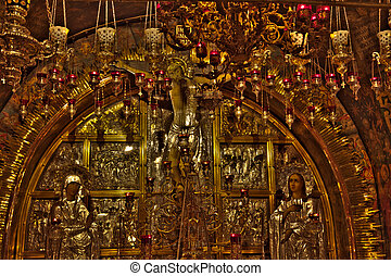 Altar of the Crucifixion - The Altar of the Crucifixion in...