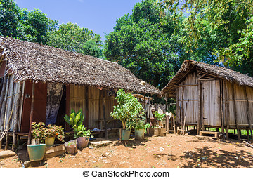 Typical village - Malagasy typical village in Nosy Be, north...