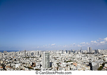 Tel-Aviv Cityscape - A view to the north-west showing the...