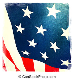 American flag - Closeup of American flag