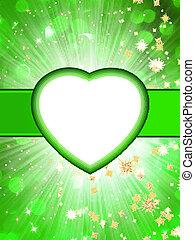Valentine green St.Valentine's Day. EPS 10 - Valentine...