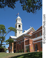 maryborough town hall - town hall and clock tower,...