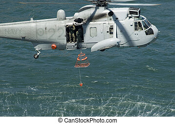 navy rescue chopper - a royal Australian navy rescue...