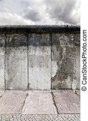 East-West, Berlín, original, pared, sección
