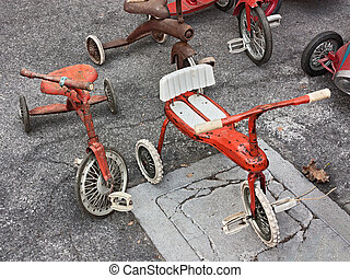 old tricycles for children - vintage toys, old tricycles for...