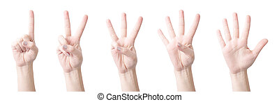 Figures testimony fingers on white background (isolated,...