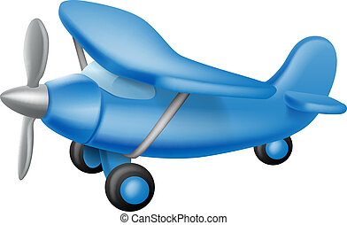 Cute little plane - An illustration of a cute little cartoon...
