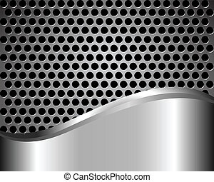 Background with metal grid - abstract dark background with...