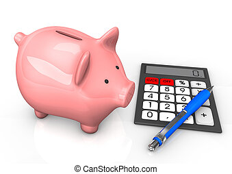 Piggy Bank Calculator Ballpen
