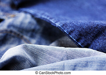 Jeans Macro Background - Macro view of a detail from a pair...