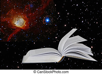 book on star background.Elements of this image furnished by...