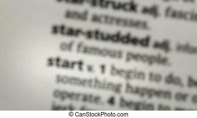 Focus on start in the dictionary