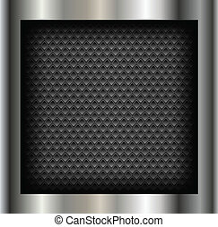 Abstract background metallic silver with holes pattern,...