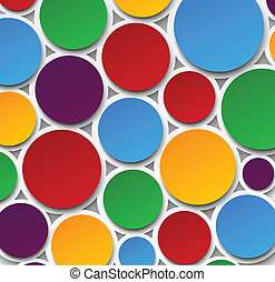 Paper colorful bubbles. - Vector abstract background...