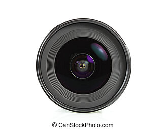 lens for the camera on a white background