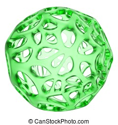 3d glass abstract sphere - 3d glass abstract sphere isolated...