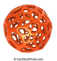 3d metallic abstract sphere