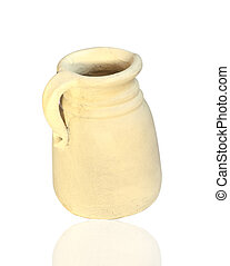 jar of clay on a white background