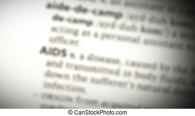 Focus on AIDS in the dictionary