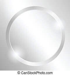 Metal background with circle. EPS10 Vector.