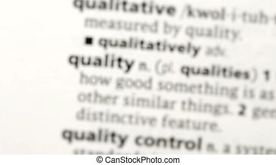 Focus on quality in the dictionary