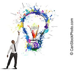 Creative business idea - Concept of creative business idea...