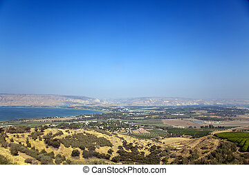 Sea of Galilee - A view on the southern edge of Sea of...