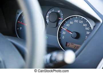 Within Speed Limit Car Dashboard - The dashboard of car...