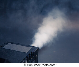 smoke machine in action