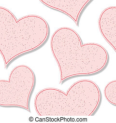 paper hearts pattern