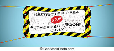 restricted area hanged banner
