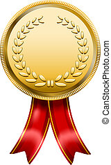 Award Medal Rosette Label - Vector Award Medal Rosette Label...