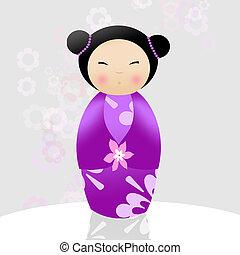Kokeshi doll - Japanese kokeshi doll