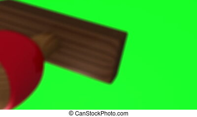 Animation of approved stamp on green screen background
