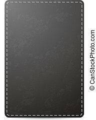 Vector black notebook cover page with leather texture,...