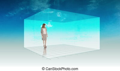 Animation of woman presenting