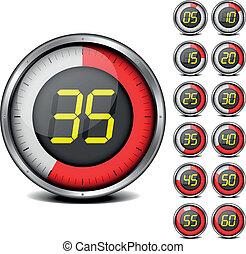 timer - illustration of a metal framed timer