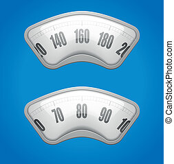 weighing scales - detailed illustration of weighing scales...