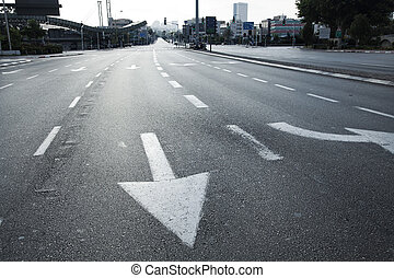 Early Morning Vacant Intersection - HaShalom intersection in...