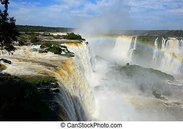 Iguazu falls, Devils Throat, Garganta del Diablo - View from...
