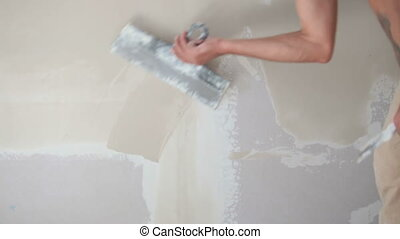 Plastering a wall - Plastering a new wall