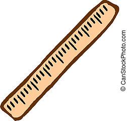 Illustration of a ruler
