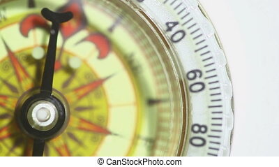 Vintage Compass on White Background