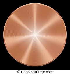 Realistic copper button. Vector eps10. Isolated