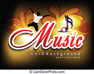 abstract music card background