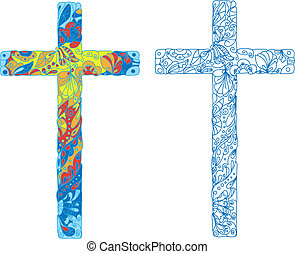 católico, ornamentado, crucifixos, Páscoa,...